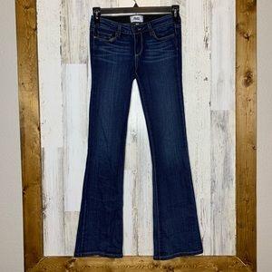 PAIGE denim skyline boot jeans size 25 dark wash